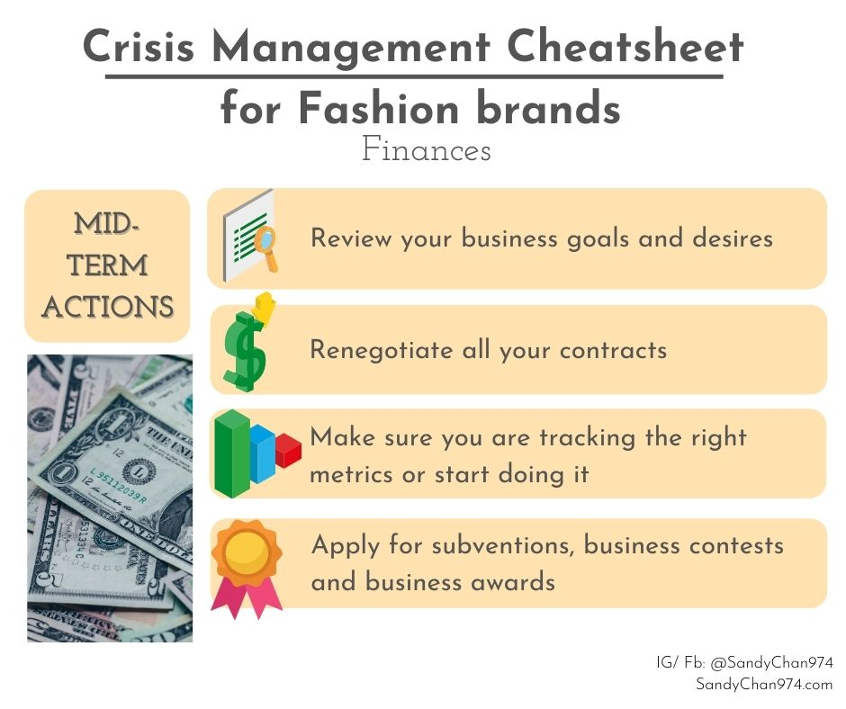 crisis management cheatsheet - mid-terms actions you can take about your finances