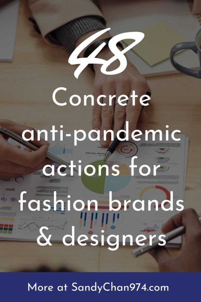 48 concrete anti-pandemic actions for fashion brands and designers