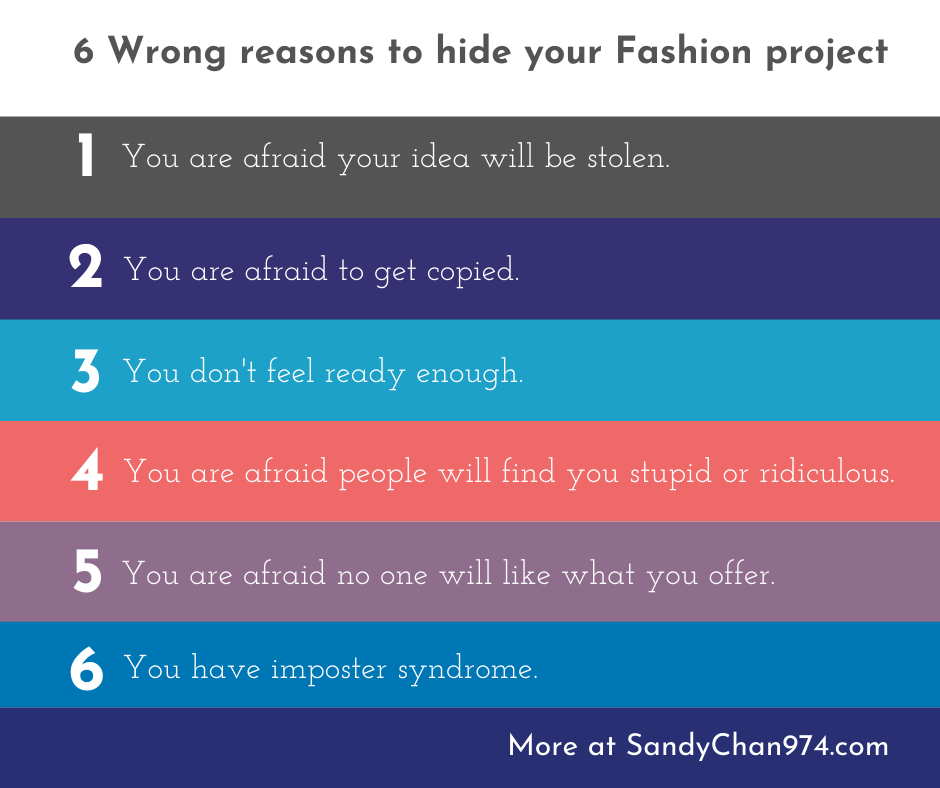 6 wrong reasons why you are afraid to talk about your fashion project