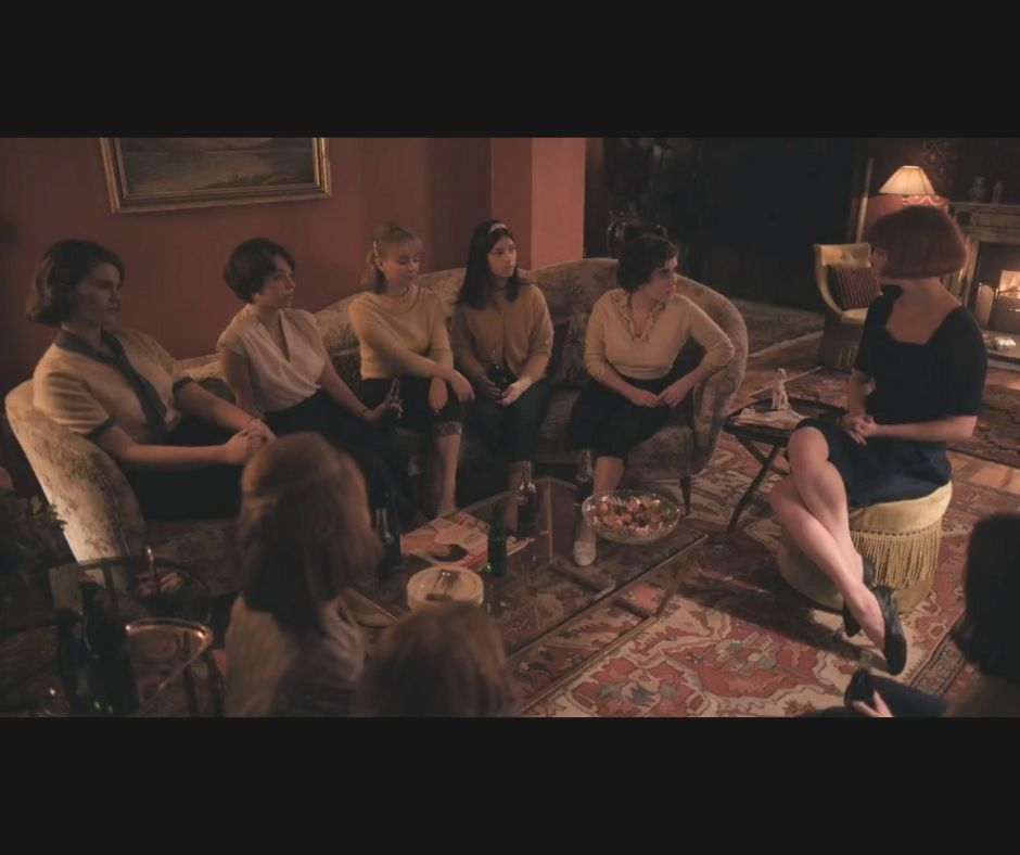 The Queen's Gambit - Beth at a girls party